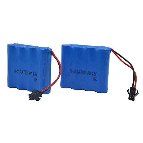 Blomiky 2pcs 4.8V 700mAH Battery for Blomiky C182 C185 C181 1/18 1:18 RC Truck Rock Crawler Vehicle or RC Car C181 Battery 2 Pack Rock Lead Scales