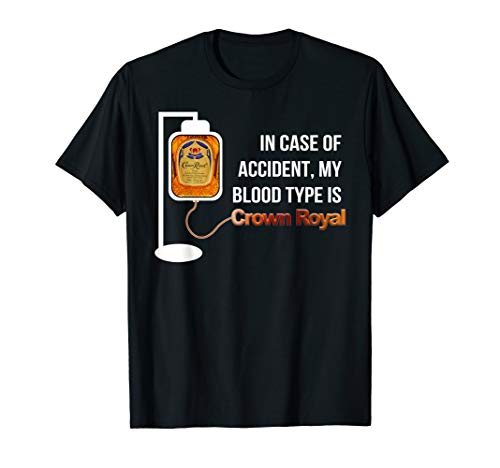 Crown Mens T-shirt - In Case-Of Accident My Blood Type Is Crowns-TShirt Royal