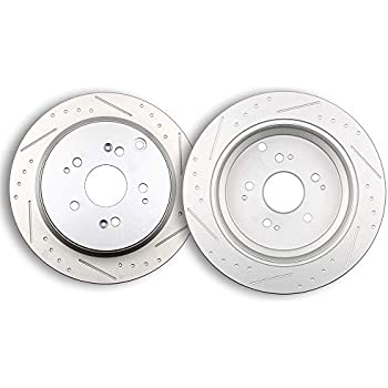 Rear Slotted Rotors Brake Discs Brakes Kit Compatible with 120.40059 31317 fit 2002 2003 2004 Honda Odyssey 803297-5206-1802291 SCITOO Brake Rotors