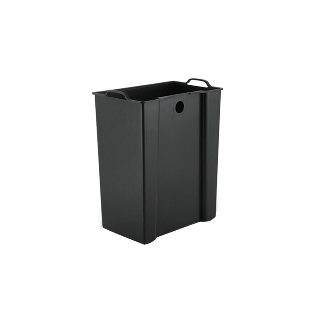 Wood Grain Stainless Steel Pedal Trash Can Living Room Kitchen Bathroom Simple With Cover Creative Trash Bin Beautiful and durable (Size : A) by HN Trash Cans (Image #3)