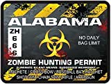 Interior Wall Design Alabama Zombie Hunting Permit Decal Danger Zone Style