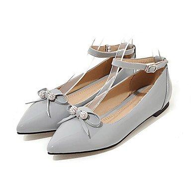 Cómodo y elegante soporte de zapatos de la mujer zapatos Flats primavera verano otoño invierno piel sintética comodidad oficina y carrera Casual soporte de tacón con lazo negro rojo gris beige otros negro