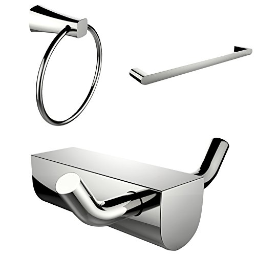 UPC 871211136716, American Imaginations AI-13671 Modern Towel Ring with Single Rod Towel Rack and Robe Hook Accessory Set
