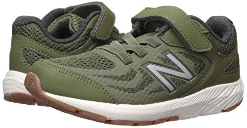 New Balance Boys' 519v1 Hook and Loop Running Shoe Dark Covert Green/Phantom 2 M US Infant by New Balance (Image #6)
