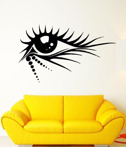 Tribal Eye Make up Big Eyelashes Design Wall Mural Vinyl Decal Sticker (Tribal Eye Makeup)