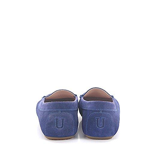 Unützer Penny Loafer U150 Veloursleder Blau