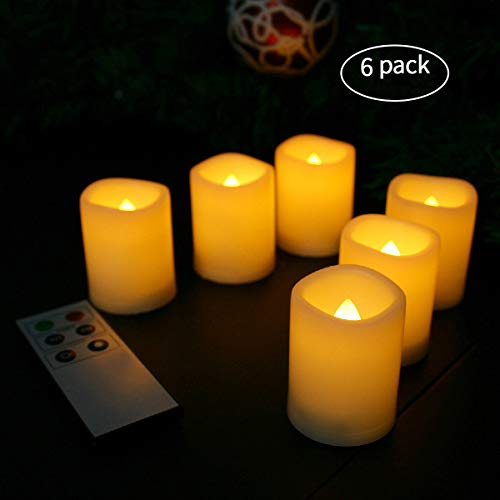 Candle Choice Flameless Votive Candles Battery Operated Timer LED Candles with Remote (Votive ()