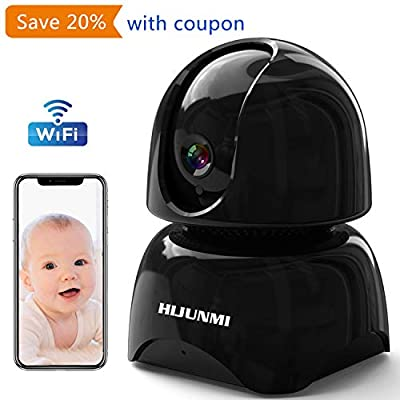 WiFi Security Camera 1080P,Wireless IP Pan/Tilt/Zoom Cam,Home Surveillance Dome Cameras,Two-Way Audio,Motion Detection from HIJUNMI