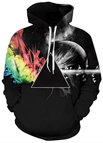 FLYCHEN Men's 3D Hoodie Pullover Print Pattern Fashion Sweat