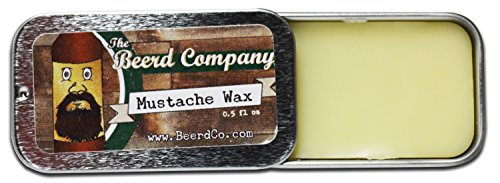 The Beerd Company's All-Natural Handmade Premium Mustache Wax, Provides Hold and Condition All Day, Essential Oils, Beer Hops & Beeswax
