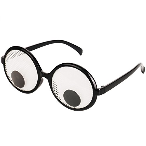 7266651602e2 ... Funny Googly Eyes Glasses – Plastic Round Party Favors, Novelty Shades,  Party Toys, ...