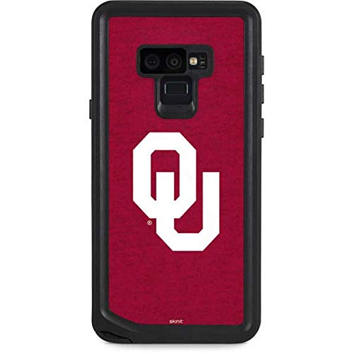 Skinit University of Oklahoma Galaxy Note 9 Waterproof Case - Oklahoma Sooners Red Design - Sweat-Proof, Snow-Proof, Dirt-Proof, Dust-Proof Phone Cover