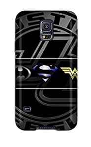 New Arrival Case Cover With Galaxy Design For Galaxy S5 Justice League