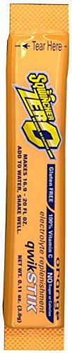 Sqwincher ZERO Qwik Stik -Sugar Free Electrolyte Powdered Beverage Mix, Orange  060100-OR (Pack of 50)