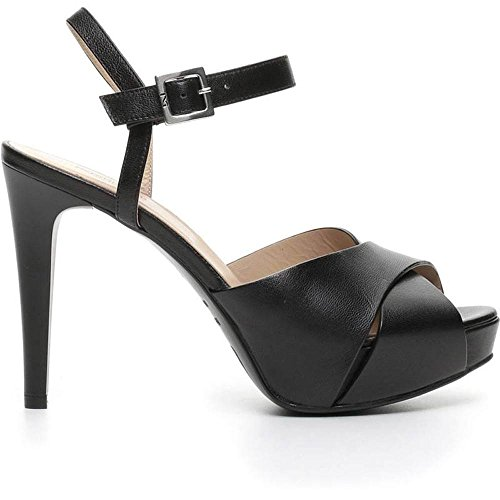 Sandalo Donna Alto in Pelle Nero P717900DE 100 - Nero Giardini