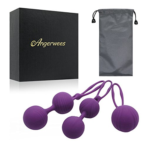 Kegel Exercise Weights - Angerwees Ben Wa Balls Sets Weighted Exercise Kit for Beginner - Girls Bladder Control & Pelvic Floor Exercises (3-Piece Set)