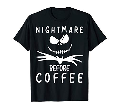 Nightmare Before Coffee T-Shirt Funny Halloween Gift Shirt