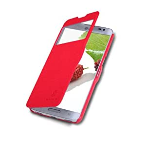 Rojo Funda Case y Protector de Pantalla y Polvo Limpieza Film y Stylus Pen Para LG D684 G Pro Lite D686 Nillkin NK30054