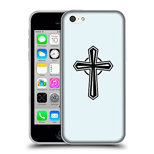 GoGoMobile Coque de Protection TPU Silicone Case pour // Q08020619 Christian Cross 27 Bulles // Apple iPhone 5C