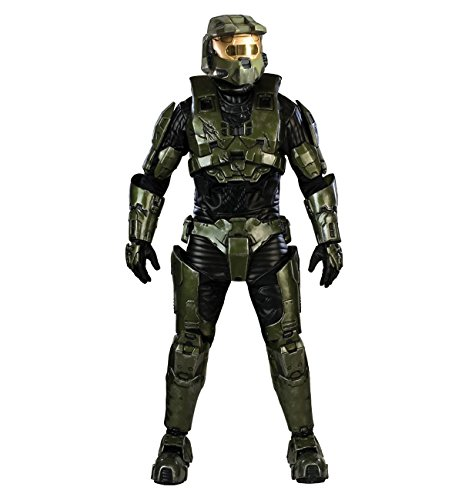Halo Master Chief Costume, Adult (Suit Of Armor Helmet)