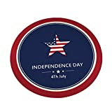 Independence Day Pattern Round Crystal Velvet Carpet 60#80#100cm Rug Pad Carpet Padding Non Slip Rug Pad Carpet Padding Rug Pad Area Rugs Rugs Round Rugs
