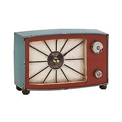 Benzara 97254 The Hidden Metal Wood Table Clock