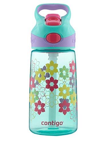 Contigo Autospout Striker Kids Water Bottle, 14-Ounce, Ultramarine