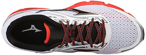 Mizuno Hombres Wave Legend 3 Low & Mid Tops Schnuersenkel Laufschuhe White / Black / Red