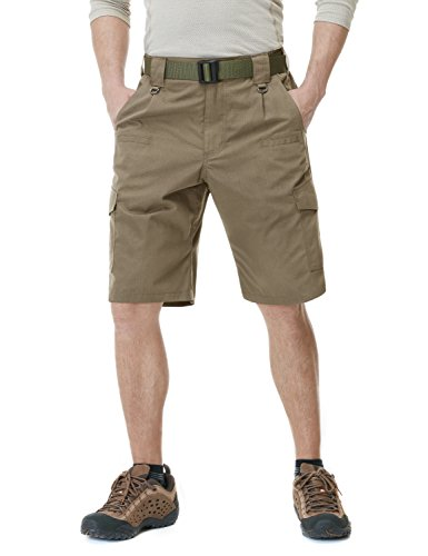 CQR Men's Tactical Lightweight Utiliy EDC Cargo Work Uniform Shorts, Tactical Shorts(tsp203) - Coyote, 32