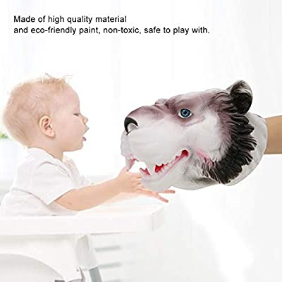 Hand Puppet Toys, Animal Head Hand Puppet Toys Simulation Animal Shaped Leopard Hand Doll Toy Children Toys Role Play Props: Toys & Games
