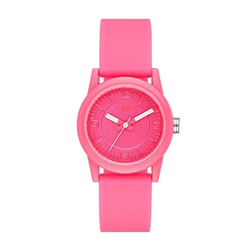 Skechers Women's Rosencrans Mini Quartz Plastic and Silicone Casual Watch Color: Pink  (Model: ()