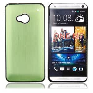 Cell Accessory Matel Wire Drawing Case for HTC One M7 Green