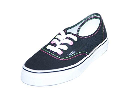 Vans Authentic Neon Womens Skateboarding Shoes Black/Pink-Yellow Black Pink Yellow aUhEpcj