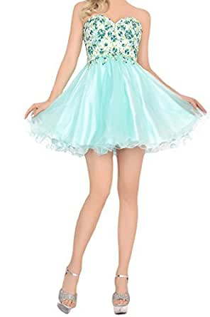 LovingDress Short Prom Dresses A Line Tulle Homecoming Dresses Size 8 US Mint