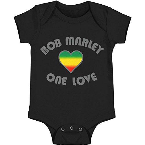 Bob Marley Baby Boys' One Love Heart Bodysuit 6 - 12 Months Black