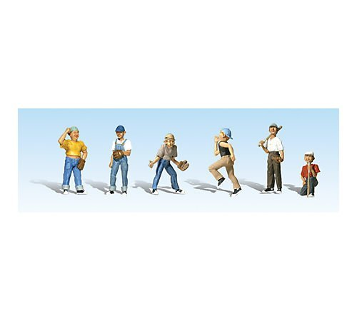Woodland Scenics N Scale Scenic Accents Baseball Players II