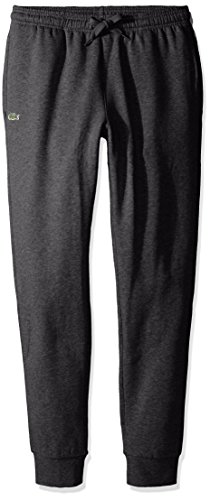Lacoste Men's Sport Fleece Trackpant with Rib Leg Opening, XH5528, Pitch, ()