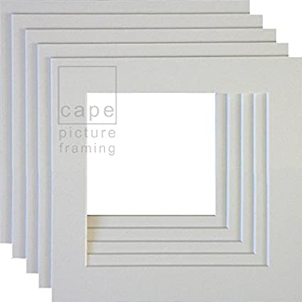 PACK OF 10 WHITE 10X10 INCH PICTURE MOUNTS