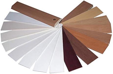HOMION PVC Venetian Blind Blinds Easy Fit Curtains Trimmable Fittings Windows Treatment Shutters Twist Open Close Black Long Drop 45x210