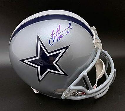 new style 878d8 81341 Amazon.com: Troy Aikman Autographed Helmet - F S + HOF 06 ...