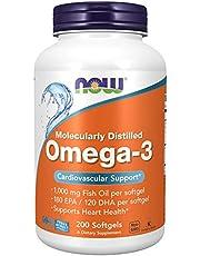 Now Foods Omega-3 Molecularly Distilled, 1000 mg 200 Soft gels