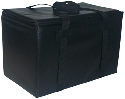 TCB Insulated Bags DST-3-Black Insulated Catering Bag for Steam Table Pans, Holds 4 4
