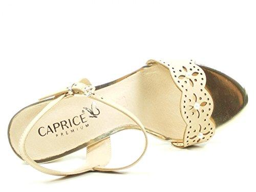 Caprice 28303, Sandalias de Talón Abierto Para Mujer Beige (Beige Nubuc 401)
