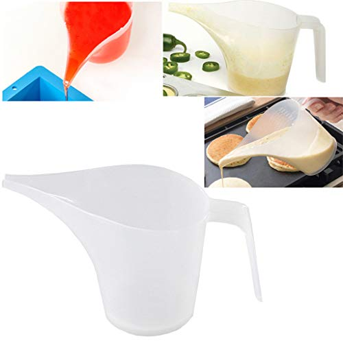 6fe6e25c39f4 Samoii Measuring Jug Cup, Tip Mouth Plastic Measurement Tool Graduated  Surface Cooking Kitchen Bakery