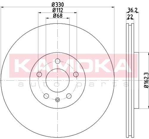 2 Kamoka Bremsscheiben Set Bel/üftet 256Mm Hinterachse