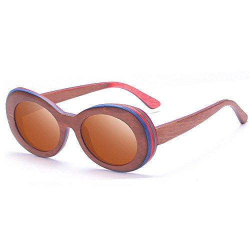 Frame Full de Couleur Yxsd Brown Classiques Rétro Lunettes Blue UV400 Soleil Xq5pYx7p