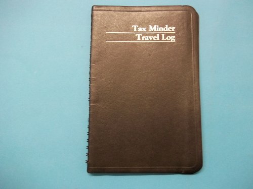 The Guilford Line G752 Tax Minder Travel Log 5 1/2'' (W) x 8 1/4'' (H) Black Spiral Bound by The Giulford Line