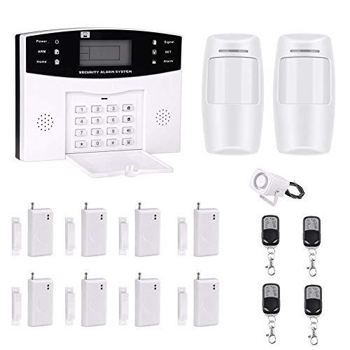 AG-Security Sistema de seguridad para el hogar, GSM inalámbrico profesional, control remoto inteligente, pantalla LED,...