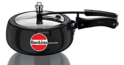 Hawkins Contura Hard Anodised Pressure Cooker Black from Hawkins