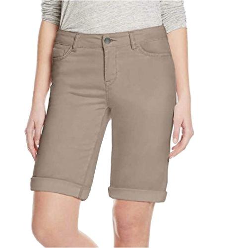 Buffalo David Bitton Womens Cuffed Bermuda Shorts (12, (Brown Bermuda)